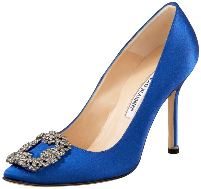 See for yourself: the Manolo Blahnik Hagisi in cobalt