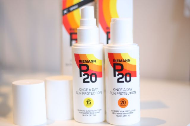 Riemann P20 sun protector FPS 15 and 20 spray and lotion