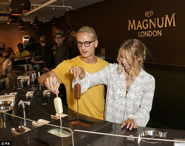 magnum pleasure store, london, proudlock and girlfriend