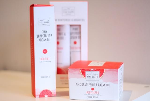 scottish fine soaps - pink grapefruit and argan