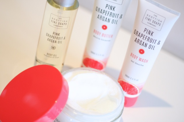 scottish fine soaps - pink grapefruit and argan