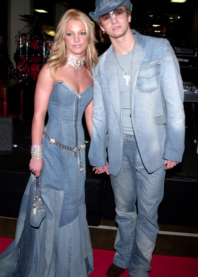 08 Jan 2001, Los Angeles, California, USA --- Britney Spears and Justin Timberlake, arriving at the 28th annual American Music Awards, held at the Shrine Auditorium. --- Image by © Frank Trapper/Corbis