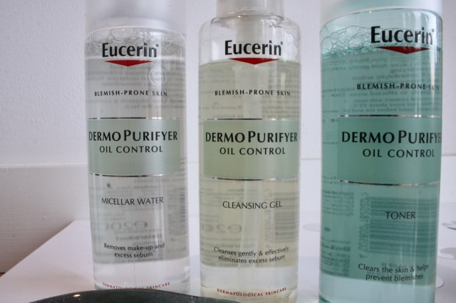 Eucerin DermoPurifyer Micellar Water, Cleansing Gel and Toner
