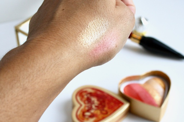I Heart Revolution Dragon's Blood Highlighter swatches